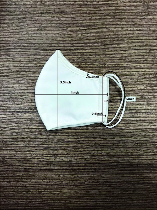 Cloth Face Mask 3 Ply 100% Cotton
